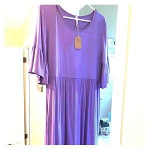 Super cute flutter sleeve boutique dress